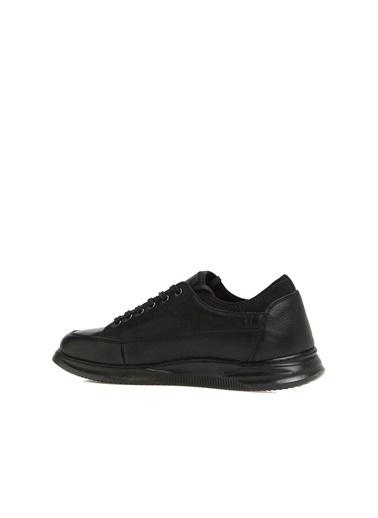 Divarese 5025016 Fermuar Detaylı Erkek Deri Ayakkabı Siyah